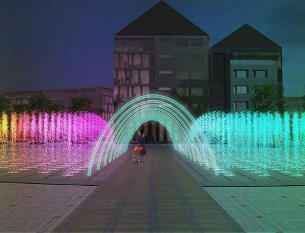 喷泉厂家介绍常见的喷泉水型