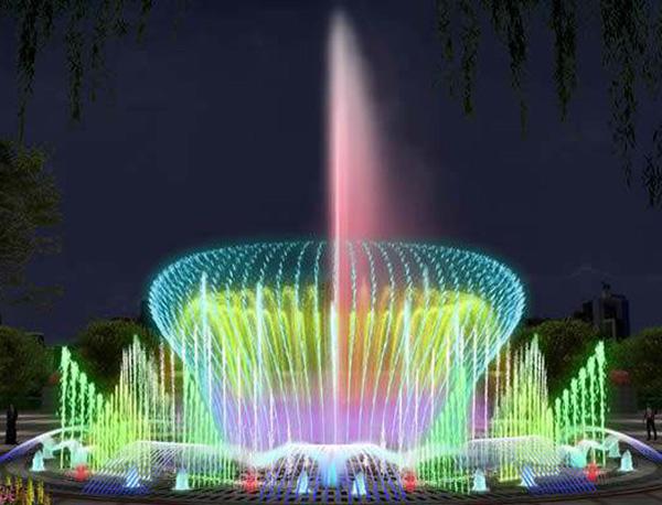 喷泉设计厂家使喷泉灯光变柔和的方法