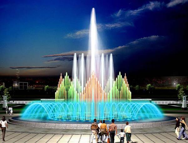 音乐喷泉厂家突出音乐喷泉的常用手法